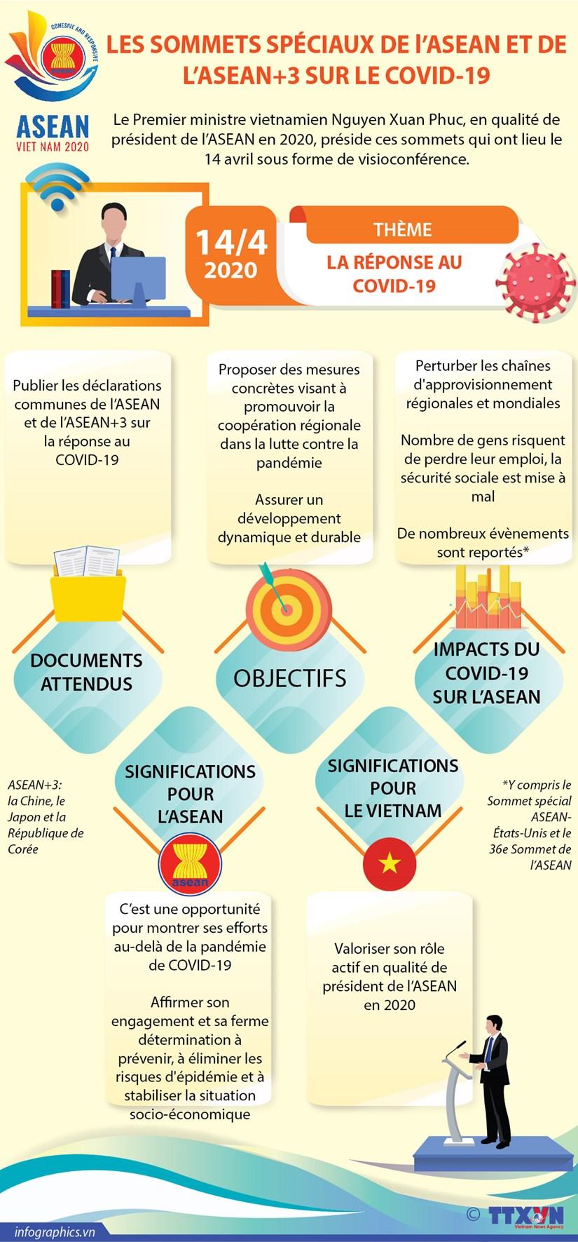 LES SOMMETS SPECIAUX DE l'ASEAN ET DE L'ASEAN+3 SUR LE COVID-19 hinh anh 1