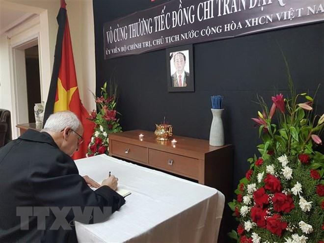 Décès Du Président Trân Dai Quang Messages De Condoléances